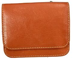 tusk leather Card Holder Wallet W Zipper And Keychain New W O Tags Unisex $29.99