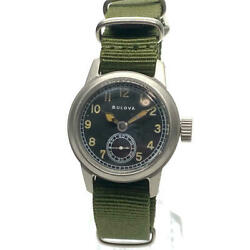 Bulova Ww2 Military Usa Vintage 1940and039s Us Army 24 Hour Dial Menand039s Watch