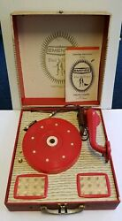Emenee Pied Piper Phonograph Record Player Model P12 45 78 Rpm Portable Suitcase