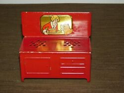 Vintage Toy 4 1/4 High Little Orphan Annie And Sandy Mini Metal Stove