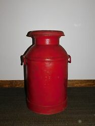 Vintage Bellevue Dairy Schenectady Ny Riverside Scotia Ny 24 Red Milk Can Pail