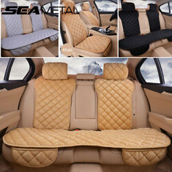 Plush Car Seat Cover Front Rear Back Bench Chair Cushion Protector Accessories