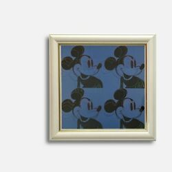Andy Warhol Disney Mickey Made In 1996 Framed Vintage Poster Calendar Lithograph