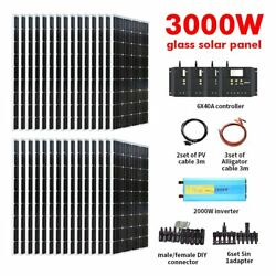 Solar Panel Complete Kit 3000w Off Grid Roofing Solar System For Shed Marine Rvs