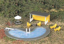 New Bachmann 42215 Swimming Pool W/accessories Ho Scale Free Us Ship