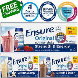 Ensure Original Nutrition Meal Replacement Shakes 9g Protein8fl Oz,24ct 3 Flvr