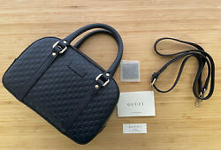 Nwt Gucci gg guccissima Small Embossed Satchel Navy Crossbody tote Bag $859.00
