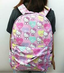 17quot;Hello kitty pink Backpacks School Backpack Casual Bag Travel Knapsack bags $25.71