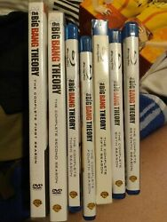 The Big Bang Theory The Complete Season 1and2 Dvd 3-7 Blu Ray. Like New Condition.