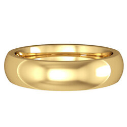 Jewelco London 18ct Yellow Gold 5mm Court-shaped Wedding Band Commitment Ring