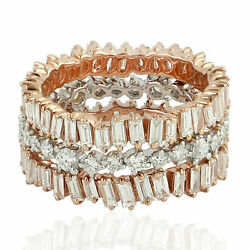 Natural Pave Diamond Solid 925 Sterling Silver Engagement Womens Ring Jewelry