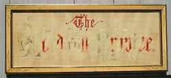 Antique Adirondack Picture Frame The Lord Will Provide Punch Art Motto 8 X 21