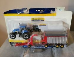 1/64th Scale New Holland T8020 Tractor W/forage Harvester And Wagon Ertl Damaged
