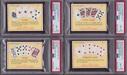 25 Card Complete Collector Psa Set 1936 The Game Of Poker Cope Bros.- Rare Lot