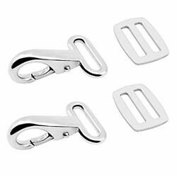 Amadget 316 Stainless Steel Bimini Strap Snaps Hooks And Sliders For 1 Strap...