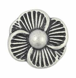 Bezelry 12 Pieces Blooming Flower Metal Shank Buttons. 21mm 13/16 Inch Antiqu...