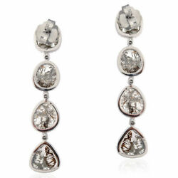 Natural Pave Diamond 925 Sterling Silver Christmas Womens Drop Dangle Earring