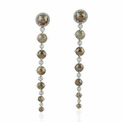 Natural Pave Diamond 925 Sterling Silver Christmas Gift Womens Dangle Earring