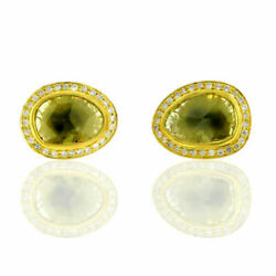 Natural Pave Diamond 925 Sterling Silver Christmas Gift Womens Ear Stud Earring