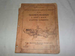 Vintage Massey Harris Company 6 And 7 Foot Clipper Combine Service Manual