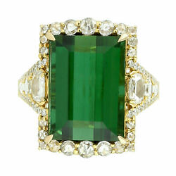 Natural Tourmaline Diamond Gemstone Solid 925 Sterling Silver Womens Ringjewelry