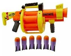 Nerf Fortnite Video Game Gl Blaster Drum And Shield With 6 Nerf Dart Rockets New