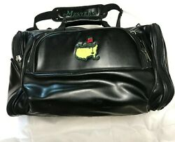 Masters Augusta National Black Leather Duffel/gear Bag. Good Condition