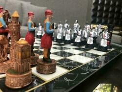 Chess Set Gary Marble Design Chess Board And Ottoman Vs Crusades Chess Pieces