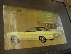 Oem Chevrolet 1967 Caprice Coupe Dealership Display Picture Cardboard Chevy