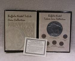 Buffalo Nickel Coin Commemorative Collection With Large 3 Nickle Medal And Coa