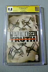 The Department Of Truth 1 Proof Of Concept Cvr Signed Tynion Cgc 9.8 Ltd 500