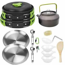 Outdoor Camping Cookware Mess Kit Set Backpacking Gear For Hiking Picnic Putdoor $39.99