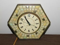 Vintage Kitchen 8 Across Ge General Electric Hexagon Electric Wall Clock