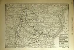 1925 Central Of Georgia Railway Ry Rr System Map Railroad Depot History