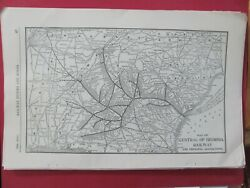 1913 Central Railway Of Georgia Original System Map Routes Stations History