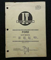 1986 Ford 2310 2600 2610 3600 3610 4100 4110 4600 4610 Tractor I And T Shop Manual