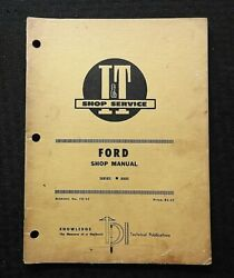 1969 Ford 8000 Tractor I And T Repair Service Shop Manual Nice Shape