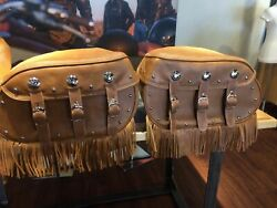 Indian Motorcycle Leather Saddle Bag And Seat 2021 Vintage