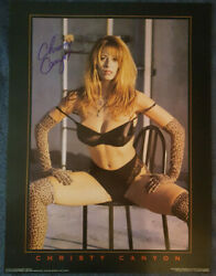Christy Canyon Signed Vintage 1996 Alley Katz 18x24 Poster W/ Proof Very Rare