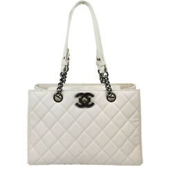 Boy Chain Tote Bag Razor Ivory Antique Silver Fittings Women And039s