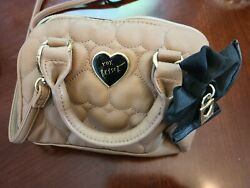 Luv Betsey by Betsey Johnson Quilted Heart Mini Barrel Bag $15.00