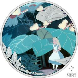2021 Niue 2 Disney Alice In Wonderland 1 Oz Silver Proof Coin - 2000 Made