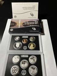 2019-s Us Mint Silver Proof Set. 10-coin Set. No West Point Penny