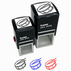 Snare Drum Percussion Musical Instrument Self-inking Rubber Stamp Ink Stamper