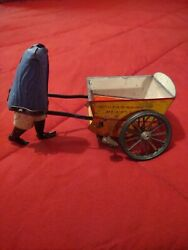 Antique 1903 Lehmann Tap Tap Dr Gm Tin Wind Up German Toy - Collectible - Parts