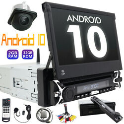 Android 10 Car Stereo Radio Dvd Single 1 Din 7'' Bt Flip Up Screen Gps Removable