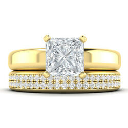 1.61ct D-si1 Diamond Princess Engagement Ring 18k Yellow Gold Any Size