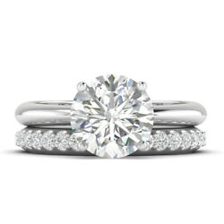 1.16ct D-si1 Diamond Round Engagement Ring 18k White Gold Any Size