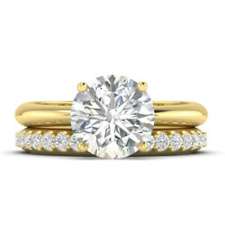 1.16ct D-si1 Diamond 4-prong Engagement Ring 18k Yellow Gold Any Size