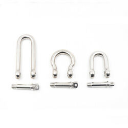 Stainless Steel Bow/d Shackle Joint Connector Small Ring Key Chain Hook M4 - M38